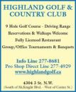 Highland Golf & Country Club